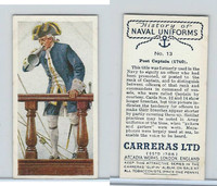 C18-56 Carreras, History Naval Uniforms, 1937, #13 Post Captain (1740)