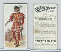 C18-55 Carreras, History Army Uniforms, 1937, #1 Kings Speres (1509)