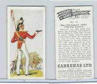 C18-55 Carreras, History Army Uniforms, 1937, #12 The 17th Lancers (1832)