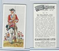 C18-55 Carreras, History Army Uniforms, 1937, #18 2nd Foot Guards (1742)