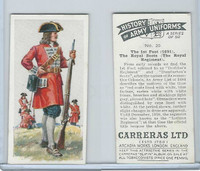 C18-55 Carreras, History Army Uniforms, 1937, #20 The 1st Foot (1691)