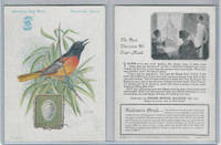 H684 Singer Sewing, American Song Birds, 1926, Baltimore Oriole