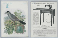H684 Singer Sewing, American Song Birds, 1926, Catbird