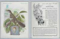H684 Singer Sewing, American Song Birds, 1926, Mocking Bird