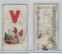 C28 Imperial Tobacco, Poultry Alphabet, 1924, #22 V For Vessel