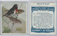 C2 Imperial Tobacco, Birds Of Canada, 1920's, #67 Rose Breast Grosbeak