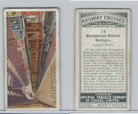 C30 Imperial Tobacco, Railway Engines, 1923, #19 Metropolitan District