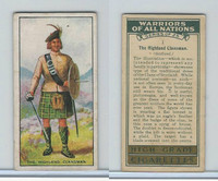 C82-86 Churchman, Warriors All Nations, 1931, #1 Highland Clansman