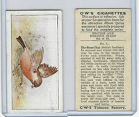 C130-24 CWS, British & Foreign Birds, 1938, #1 Stone Chat