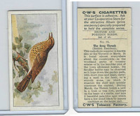 C130-24 CWS, British & Foreign Birds, 1938, #12 Song Thrush