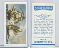 G0-0 Glengettie Tea, Naval Battles, 1971, #11 Sloop Little Belt & U.S. Frigate