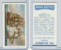 G0-0 Glengettie Tea, Naval Battles, 1971, #14 Shannon & Chesapeake 1813