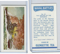 G0-0 Glengettie Tea, Naval Battles, 1971, #23 The Sinking of the Bismarck