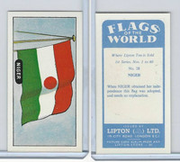 L0-0 Lipton Tea, Flags of the World, 1966, #28 Niger