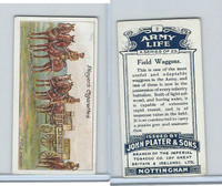 P72-16 Player, Army Life, 1910, #2 Field Waggon