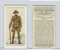 P72-168 Player, Military Un. British EO, 1938, #11 New Zealand Mounted Rifles