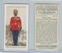 P72-168 Player, Military Un. British EO, 1938, #17 India Madras Sappers