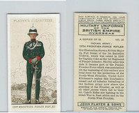 P72-168 Player, Military Un. British EO, 1938, #22 India 13th Frontier Rifles