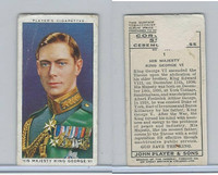 P72-157 Player, Coronation, 1937, #1 His Majesty King George VI