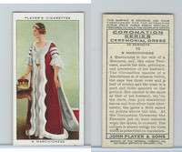 P72-157 Player, Coronation, 1937, #10 A Marchioness