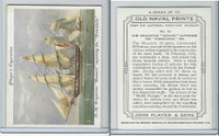 "P72-226 Player, Old Naval Prints, 1936, #19 HM Brigantine ""Buzzard"""