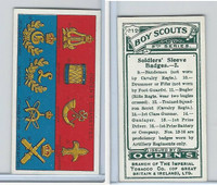 O2-94 Ogdens, Boy Scouts, 1914, #212 Soldiers Sleeve Badges