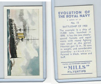 A46-0 Amalgamated, Evolution Royal Navy, 1957, #15 Battleship of 1900