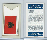C18-0 Carreras, Flags All Nations, 1960, #2 Albania