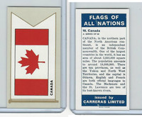 C18-0 Carreras, Flags All Nations, 1960, #10 Canada