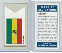 C18-0 Carreras, Flags All Nations, 1960, #18 Ethiopia