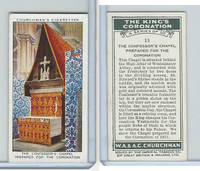 C82-60 Churchman, Kings Coronation, 1937, #13 The Confessor's Chapel