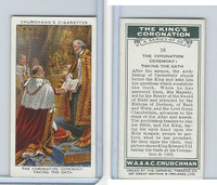 C82-60 Churchman, Kings Coronation, 1937, #16 The Coronation Ceremony