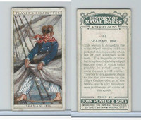 P72-107 Player, History Naval Dress, 1930, #33 Seaman, 1806