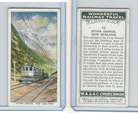 C82-92 Churchman, Won. Rail Travel, 1937, #12 Otira Gorge, New Zealand