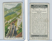 C82-92 Churchman, Won. Rail Travel, 1937, #15 San Paolo Railway, Brazil