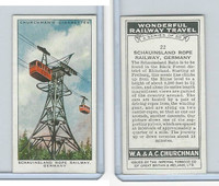 C82-92 Churchman, Won. Rail Travel, 1937, #22 Schauinsland Rope Rail, Germany