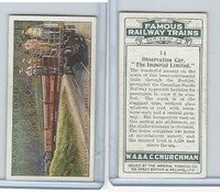 C82-48 Churchman, Famous Railway Trains, 1929, #14 Imperial