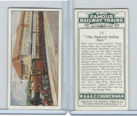 C82-48 Churchman, Famous Railway Trains, 1929, #15 Imperial Indian Mail
