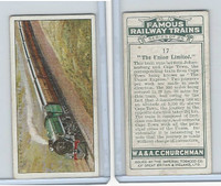 C82-48 Churchman, Famous Railway Trains, 1929, #17 Union Limited