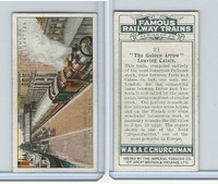 C82-48 Churchman, Famous Railway Trains, 1929, #21 Golden Arrow