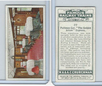 C82-48 Churchman, Famous Railway Trains, 1929, #22 Golden Arrow