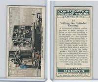 O2-140 Ogdens, Construction Trains, 1930, #10 Drilling the Cylinder Casting