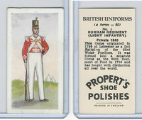 P0-0 Propert, British Uniforms, 1955, #1 Durham Regiment
