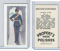 P0-0 Propert, British Uniforms, 1955, #11 Royal Artillery