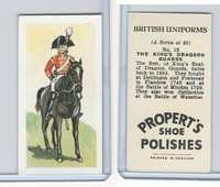 P0-0 Propert, British Uniforms, 1955, #12 King's Dragoon Guards