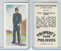 P0-0 Propert, British Uniforms, 1955, #17 Army Educational Corps