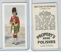P0-0 Propert, British Uniforms, 1955, #20 Gordon Highlanders