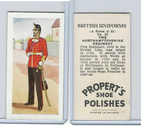 P0-0 Propert, British Uniforms, 1955, #25 Northamptonshire Regiment