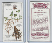 P72-136 Player, Struggle For Existence, 1923, #20 White Clover