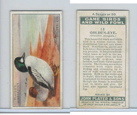 P72-103 Player, Game Birds & Wild Fowl, 1927, #13 Golden-Eye